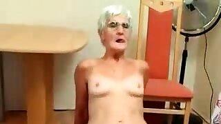 Vigorous granny butt-cheeks..