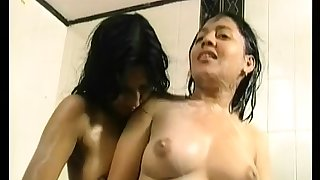 hot soapy bathroom fun with..