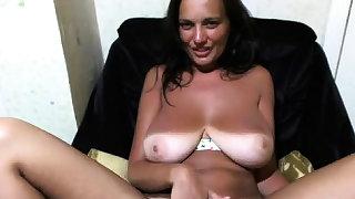 Hot chesty slut frigging..