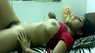 Desi teen toying with..