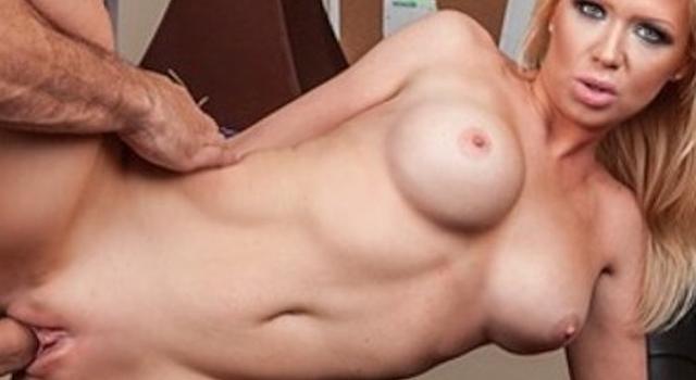 Super-sexy blond student..