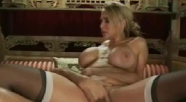 Huge titty blonde stunner..