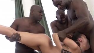 EXTREME! Brutal anal gang-fuck