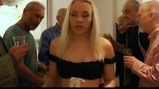 Woman sucks old dude Would..