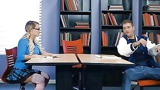 Big boobed schoolgirl nerd..
