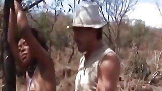 African teen riding sucking..