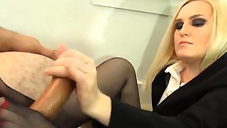 Pantyhosed blonde mummy..