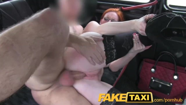 FakeTaxi Red head with thick..