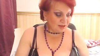 Wild chesty granny on cam