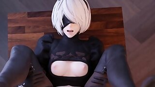Beautiful 2B with Huge Butt..