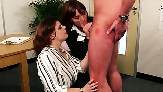 Cockhungry CFNM babes buxom..